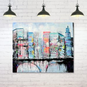 New York schilderij - modern - esther gemser - woonstijl vtwonen bloomingville hk living house dctor
