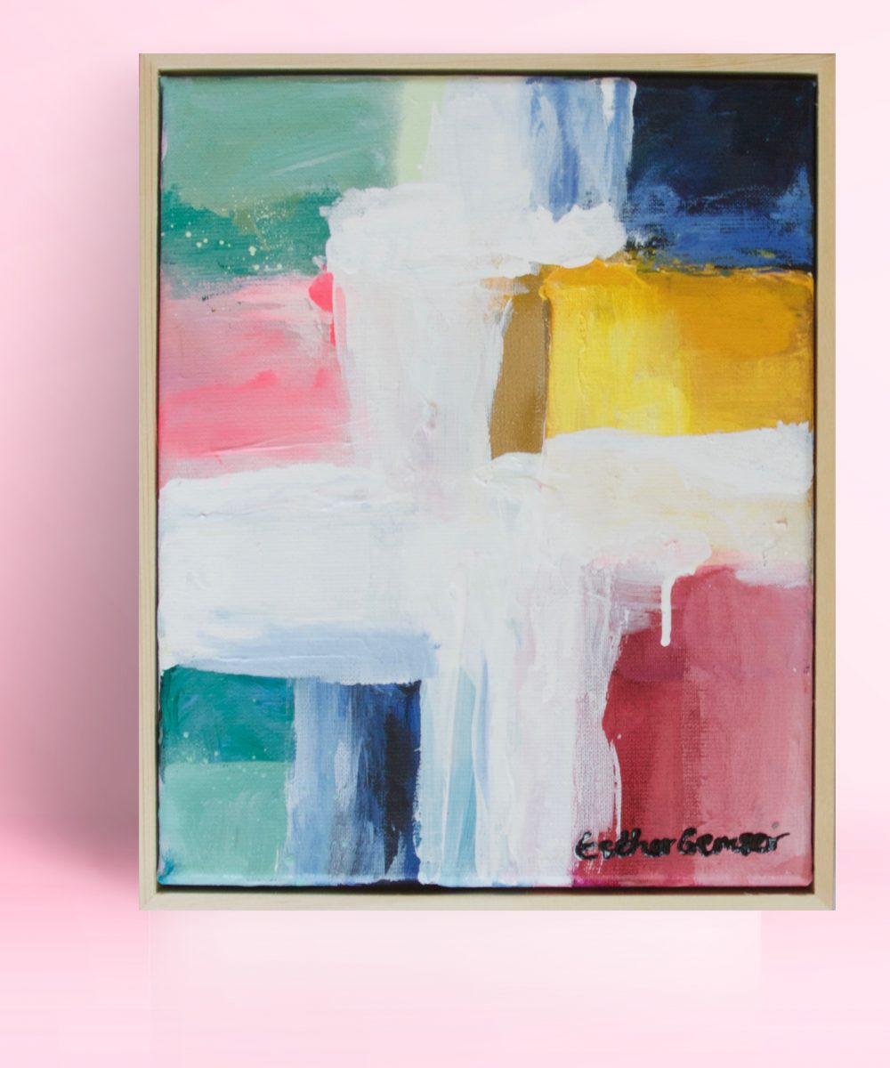 Abstract schilderij Little Love | Kunst & Design Utrecht | Esther Gemser