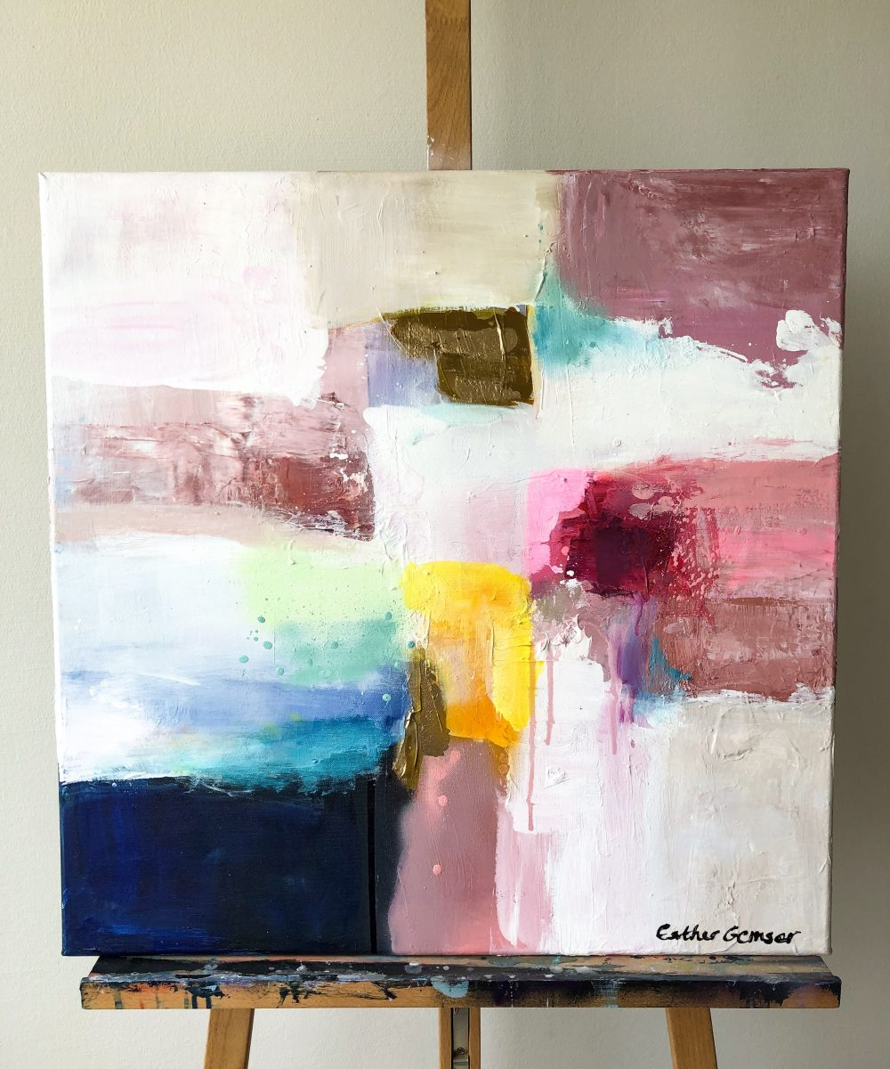 Abstract schilderij Colorpop | Esther Gemser |Kunst & Design | Esther Gemser