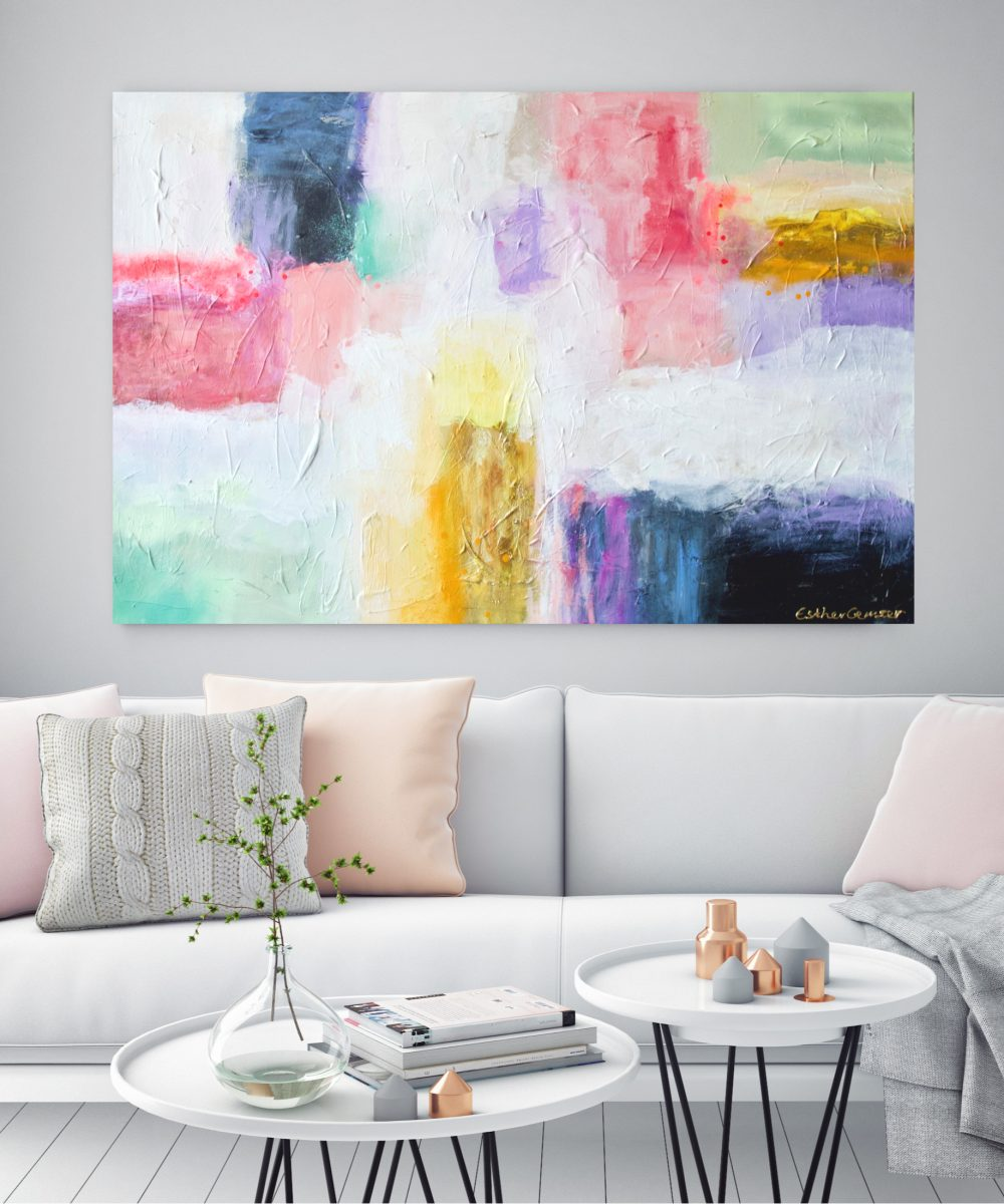 Abstract schilderij | Summernights | Esther Gemser | Kunst & Design | Utrecht | Art