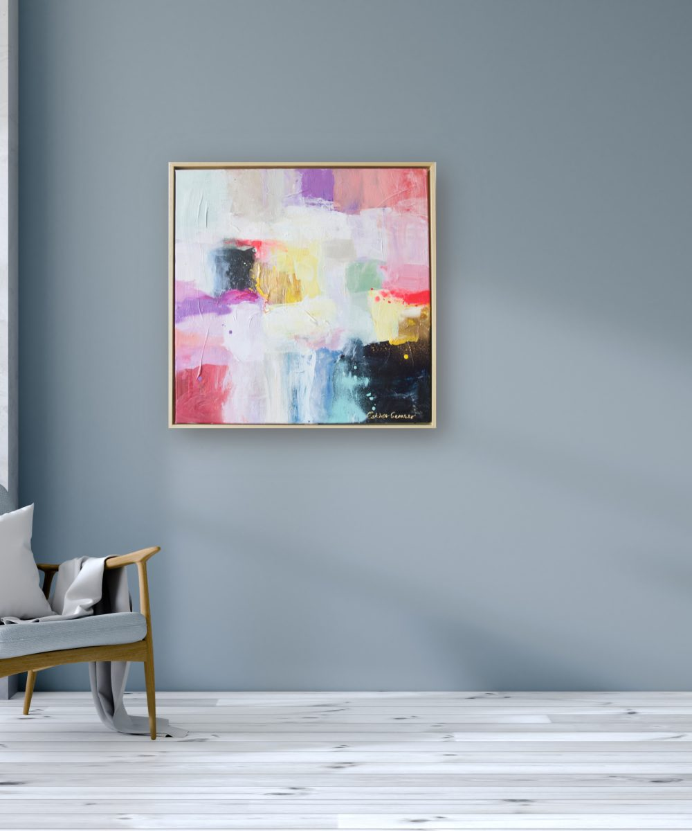 Abstract schilderij flirty | Esther Gemser | Kunst & Design Utrecht