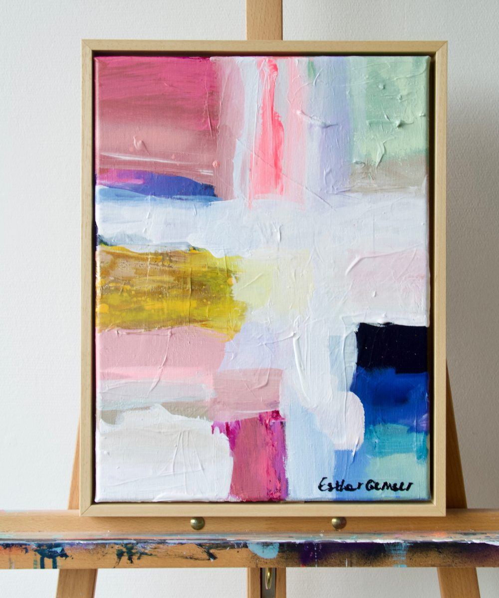 Abstract schilderij Sunkissed | Esther Gemser | Modern schilderij pastel Utrecht