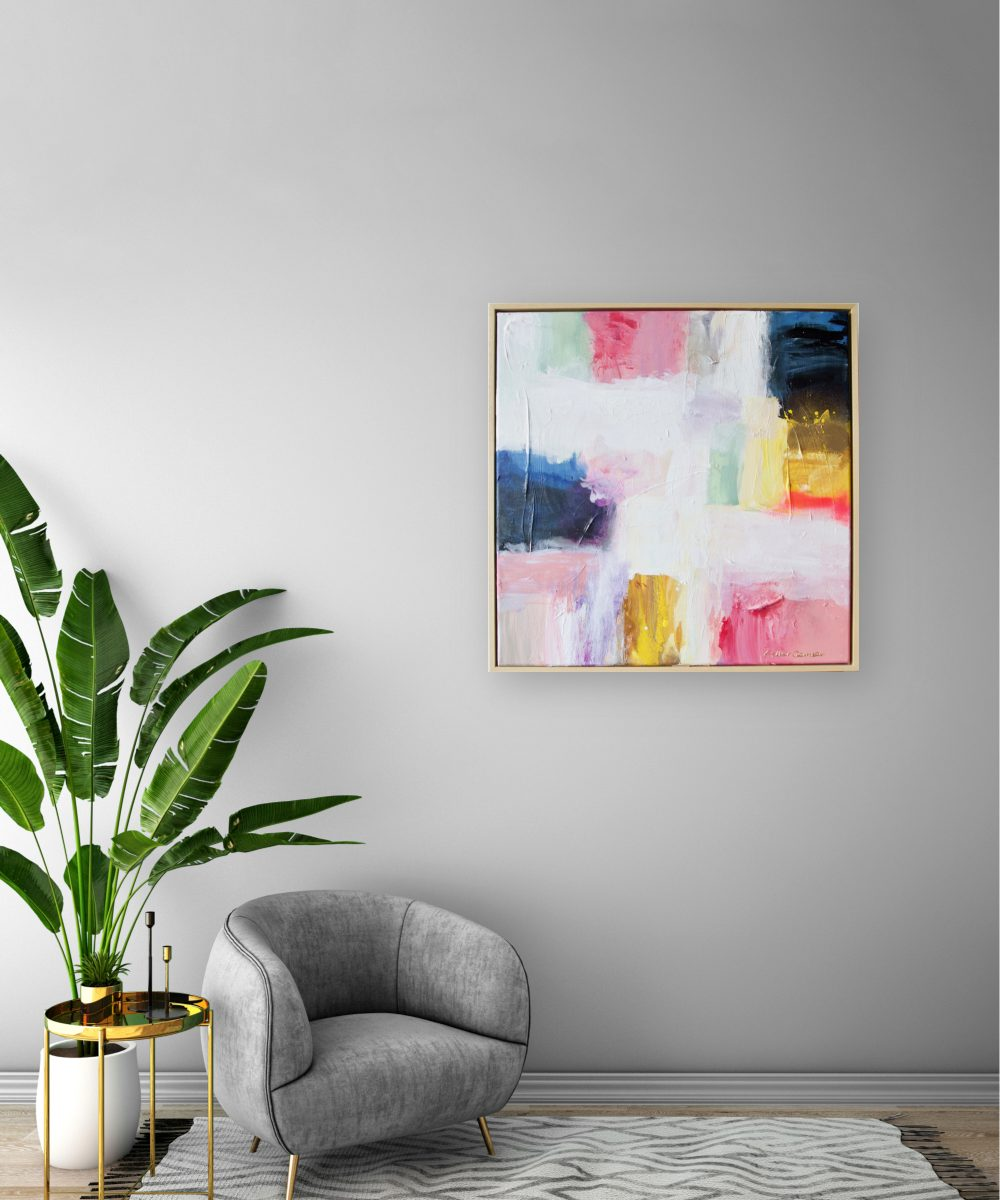 Abstract schilderij Esther Gemser Sunrise | Kunst & Design | Schilderij Utrecht