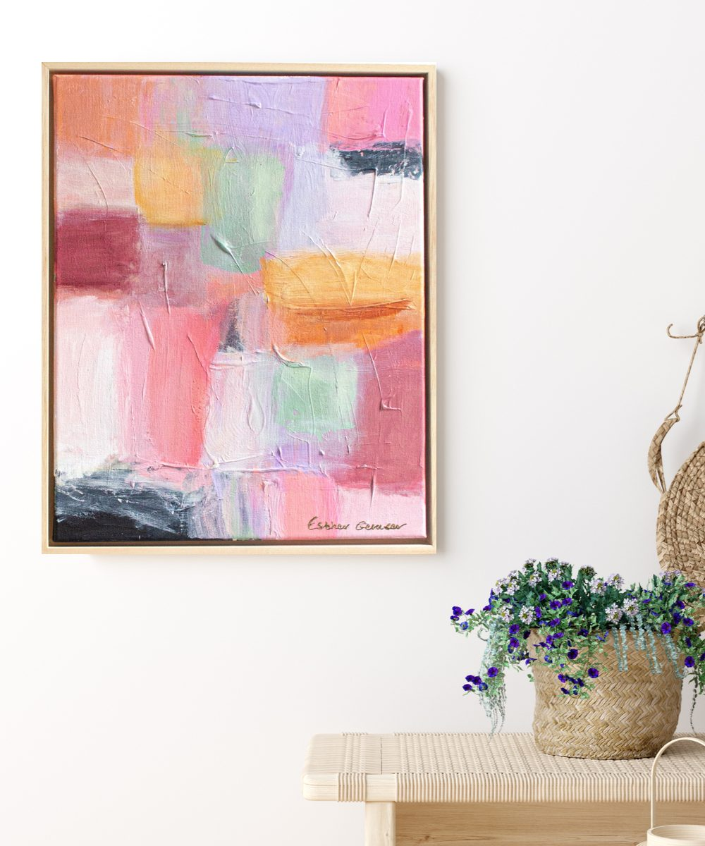 Esther Gemser Art | abstract schilderij modern pastel