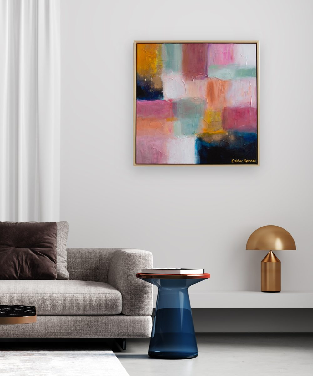 Esther Gemser Limited Edition abstract schilderij hotel chique woonkamer