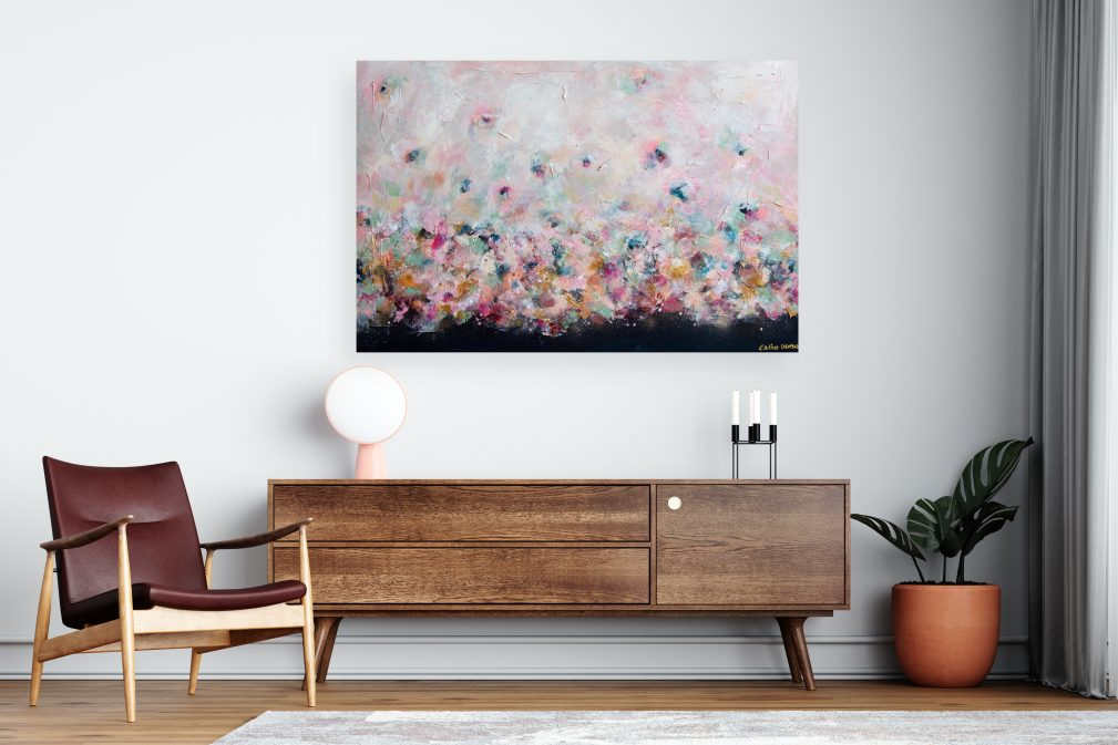 Esther Gemser Limited Edition Collection abstract schilderij warm nudes groen hotel chique